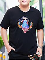 cheap -Men's T shirt Animal Stylish Short Sleeve Daily Tops Ordinary Yellow Black
