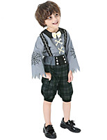 cheap -Zombie Cosplay Costume Kid's Boys' Halloween Halloween Festival Halloween Carnival Festival / Holiday Terylene Gray Easy Carnival Costumes Printing / Top / Pants