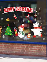 cheap -Christmas Cartoon Decorations Holiday Wall Stickers Holiday Wall Stickers Decorative Wall Stickers PVC Home Decoration Wall Decal Wall / Window Decoration 1pc