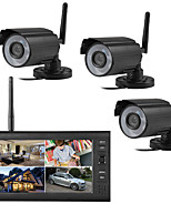cheap -4CH Wireless CCTV System H.265 720P NVR 1MP Outdoor Video Recorder Camera Security System Video Surveillance Kit