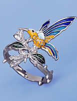 cheap -Women Statement Ring Fancy Blue Brass Bird Wings Artistic Unique Design European 1pc / Women's / Gift