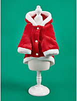 cheap -Dog Cat Coat Christmas Costume Christmas Tree Santa Claus Classic Style Cosplay Christmas Party Winter Dog Clothes Puppy Clothes Dog Outfits Warm Red Costume for Girl and Boy Dog Polyster S M L XL XXL