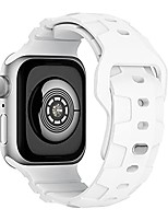 cheap -compatible with apple watch series 7 45mm band for men women,  rugged soft silicone replacement bands for iwatch series 7, white 45mm
