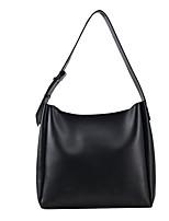 cheap -Women's Bags PU Leather Tote Top Handle Bag Zipper Plain Solid Color Vintage Daily Outdoor Retro Leather Bag Handbags Khaki Black Brown Coffee