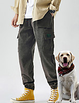 cheap -Men's Work Pants Hiking Cargo Pants Track Pants Drawstring Military Winter Outdoor Windproof Ripstop Breathable Multi Pockets Bottoms Grey Black Coffee Camping / Hiking / Caving Traveling M L XL XXL