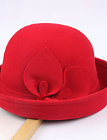 cheap -Women's Party Hat Party Wedding Street Flower Pure Color Wine Camel Hat / Black / Red / Khaki / Fall / Winter