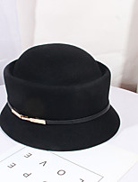 cheap -Women's Party Hat Party Wedding Street Pure Color Pure Color Wine Camel Hat / Black / Fall / Winter