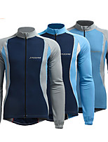 cheap -Men's Cycling Jacket Winter Bike Top Quick Dry Moisture Wicking Sports Patchwork Blue / Grey Clothing Apparel Bike Wear / Long Sleeve / Micro-elastic / Athleisure