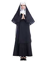 cheap -Cosplay Cosplay Costume Adults' Women's Halloween Halloween Festival Halloween Festival / Holiday Terylene Black Women's Easy Carnival Costumes Solid Color / Dress / Shawl / Headwear