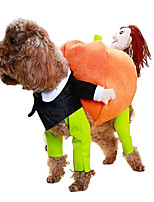 cheap -Dog Cat Costume Character Cosplay Christmas Halloween Dog Clothes Puppy Clothes Dog Outfits Cosplay Green Costume for Girl and Boy Dog Cotton Blend One-Size