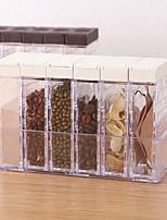 cheap -Spice Shaker Jars, Seasoning Shaker Box Condiment Set , Seasoning Storage Containers,Brown