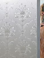 cheap -No Glue Window Film Vinyl Static Anti Uv Privacy Glass Sticker Home Kitchen Office Decorative Flower Glass Film 100*45cm