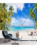 cheap -Mural Wallpaper Wall Sticker Custom Self-adhesive Seaside Leaves PVC / Vinyl Suitable For Living Room Bedroom Restaurant Hotel Wall Decoration Art  Home Decor