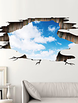 cheap -3D Landscape Wall Stickers Living Room Kids Room Kindergarten Removable Pre-pasted PVC Home Decoration Wall Decal 90*60cm