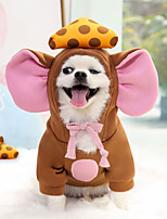 cheap -Dog Cat Costume Hoodie Sweatshirt Animal Adorable Cute Dailywear Casual / Daily Winter Dog Clothes Puppy Clothes Dog Outfits Breathable Gray Coffee Costume for Girl and Boy Dog Polyester XS S M L XL