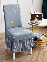 cheap -Stretch Kitchen Chair Cover Slipcover for Dinning Party With Skirt Cartoon High Elasticity Four Seasons Universal Super Soft Fabric