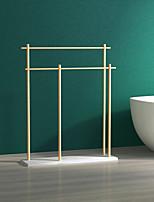 cheap -Towel Rack Non Perforated Floor Type Bathtub Column Type Towel Rack Double-Layer Dislocation Bath Towel Rack