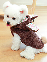 cheap -Dog Cat Coat Hoodie Rabbit Animal Adorable Cute Dailywear Casual / Daily Dog Clothes Puppy Clothes Dog Outfits Pink White Brown Costume for Girl and Boy Dog Polyester XS S M L XL