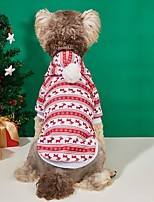 cheap -Dog Cat Hoodie Hooded Shirts Dog clothes Reindeer Elk Fashion Casual / Sporty Christmas Casual / Daily Winter Dog Clothes Puppy Clothes Dog Outfits Warm Red Costume for Girl and Boy Dog Polyester S M