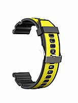 cheap -replacement soft tpu watch bands compatible with samsung gear s3/galaxy watch 46mm/samsung galaxy watch 3 (45mm),xiaomi watch straps non-irritating breathable (yellow)
