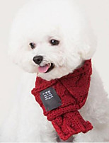 cheap -Dog Cat Dog Scarf Christmas Halloween Dog Clothes Puppy Clothes Dog Outfits Comfortable Red Green Costume for Girl and Boy Dog Knitted S L