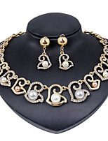 cheap -Women's Pearl Bridal Jewelry Sets Geometrical Heart Stylish Earrings Jewelry Gold For Party Wedding Gift Festival 1 set