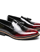 cheap -Men's Loafers & Slip-Ons Casual Athletic PU Red Black Fall