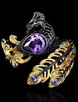 cheap -Women Statement Ring AAA Cubic Zirconia Briolette Gold / Black Brass Peacock Statement Artistic Unique Design 1pc / Women's