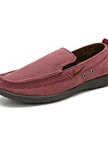 cheap -Men's Loafers & Slip-Ons Business Casual Classic Daily Office & Career Tissage Volant Gray Burgundy Beige Fall Winter