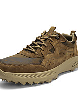 cheap -Men's Unisex Sneakers Sporty Casual Classic Daily Outdoor Fitness & Cross Training Shoes Leather Pigskin Gray Brown Camouflage Fall Winter