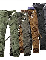 cheap -Men's Work Pants Hiking Cargo Pants Tactical Pants Solid Color Winter Outdoor Loose Thermal Warm Windproof Lightweight Breathable Cotton Pants / Trousers Bottoms Yellow Army Green Grey Khaki Black