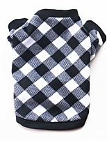 cheap -Dog Sweatshirt Plaid / Check Geometic Spots & Checks Simple Style Casual / Daily Winter Dog Clothes Puppy Clothes Dog Outfits Warm Black / White Costume for Girl and Boy Dog Fleece XS S M L