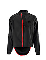 cheap -Men's Cycling Jacket Winter Bike Top Quick Dry Moisture Wicking Sports Patchwork Black Clothing Apparel Bike Wear / Long Sleeve / Micro-elastic / Athleisure