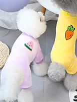 cheap -dog clothes autumn and winter clothes new fleece teddy small dog pet clothing autumn and winter 21 fruit four-leg fleece