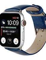 cheap -Smart Watch Band for Apple iWatch 1 pcs Business Band Genuine Leather Replacement  Wrist Strap for Apple Watch Series 7 / SE / 6/5/4/3/2/1
