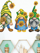 cheap -Cartoon Wall Stickers Living Room Kids Room Kindergarten Removable Pre-pasted PVC Home Decoration Wall Decal 1pc