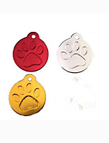 cheap -Dog Cat Pets Tag Cute and Cuddly Footprint / Paw Steel Stainless Small Dog Red Silver Gold 1pc