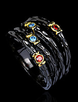 cheap -Women Statement Ring AAA Cubic Zirconia Fancy Gold / Black Brass Totem Series Gothic Fashion Vintage 1pc / Women's
