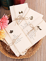 cheap -creative zakka retro metal greeting card diy folding blessing birthday message card tanabata teacher christmas
