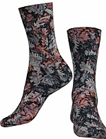 cheap -Socks Cycling Socks Men's Women's Bike / Cycling Breathable Soft Comfortable 1 Pair Floral Botanical Cotton Grey S M L / Stretchy