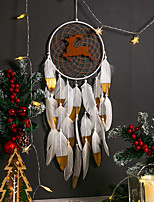 cheap -Christmas elk Dream Catcher hand-woven golden goose tassel Christmas costume