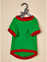 cheap -Dog Cat Shirt / T-Shirt Dog clothes Quotes & Sayings Christmas Casual Simple Style Christmas Festival Winter Dog Clothes Puppy Clothes Dog Outfits Warm Red Green Costume for Girl and Boy Dog Polyster