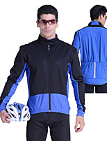 cheap -Men's Cycling Jacket Winter Bike Top Quick Dry Moisture Wicking Sports Patchwork Black / Red / Black / Blue Clothing Apparel Bike Wear / Long Sleeve / Micro-elastic / Athleisure