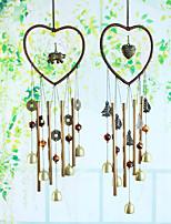 cheap -Dream catcher metal pipe Bell Air Bell door decoration heart-shaped home decoration handicraft gift