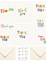 cheap -6 sets of amazon thank you card christmas set greeting card creative blessing card with envelope sticker
