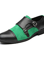 cheap -Men's Loafers & Slip-Ons Business Casual Classic Daily PU Black and Dark Gray Black / Green Fall Winter