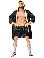 cheap -Cosplay Cosplay Costume Adults' Men's Halloween Halloween Halloween Festival / Holiday Terylene Black Men's Easy Carnival Costumes Solid Color / Top / Shorts