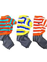 cheap -autumn and winter pet dog clothes casual warm dog clothes jiwa four-legged fleece puppy clothes striped clothes