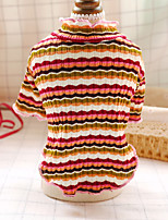 cheap -Dog Cat Sweater Patterned Color Block Animal Adorable Cute Dailywear Casual / Daily Winter Dog Clothes Puppy Clothes Dog Outfits Soft Black / White Red Fuchsia Costume for Girl and Boy Dog Polyester