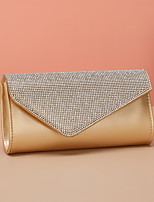 cheap -Women's Bags PU Leather Evening Bag Rhinestone Party / Evening Evening Bag Champagne Silver Gold Black